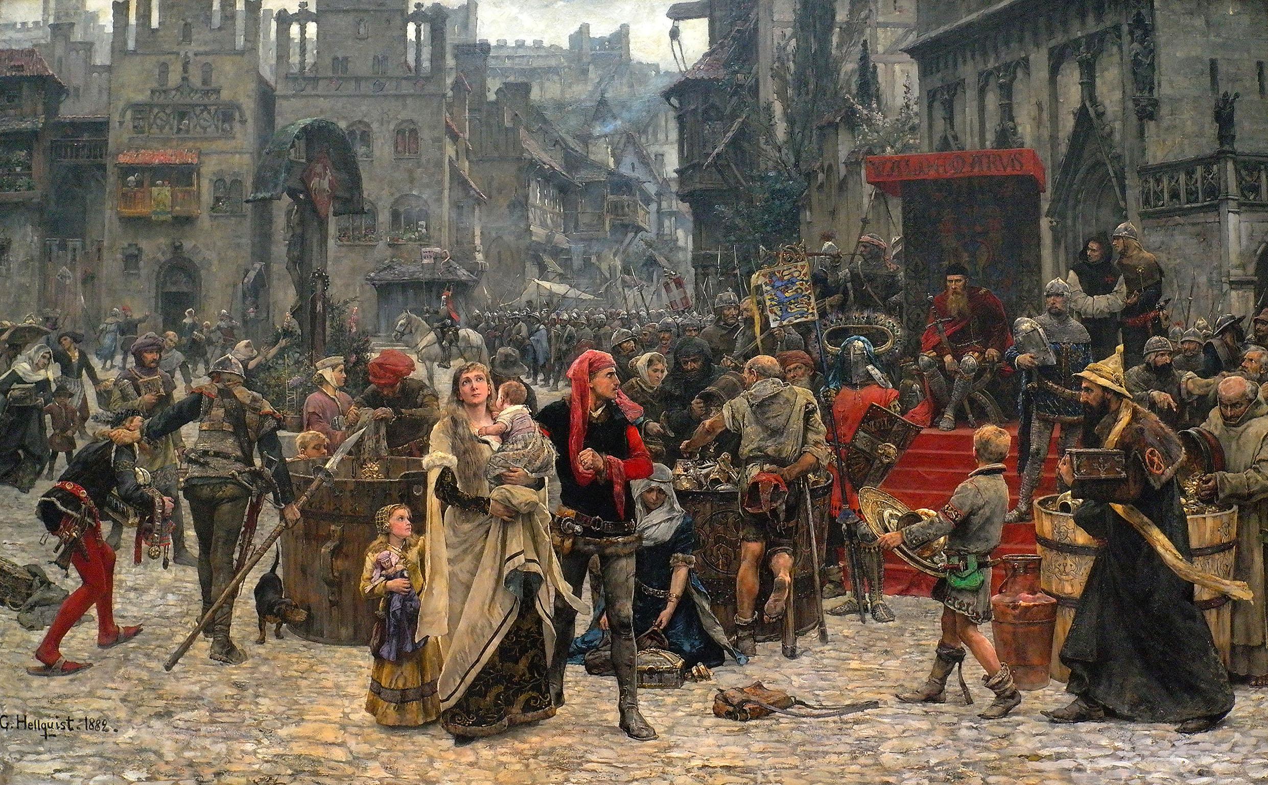 """""""Valdemar Atterdag brandskattar Visby år 1361"""""""