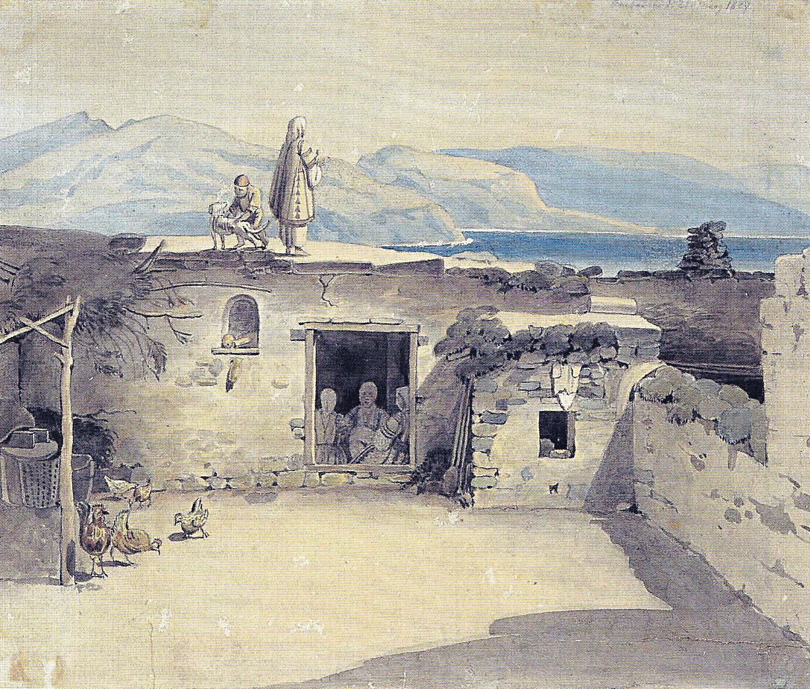 De flesta greker bodde i enkla hus på landsbygden.